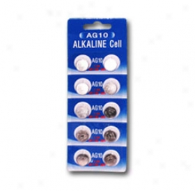 1 Card: 10pcs Ag10 / Lr55 / Lr1130 1.5v Alkaline Button Cells