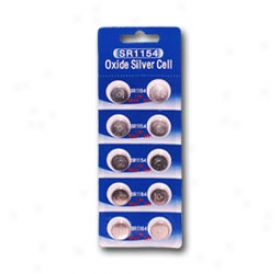 1 Card: 10pcs Sr44sw / 303 / 357 1.55v Silver Oxide Button Cells