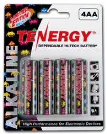 1 Card: 4pcs Tenergy Aa Size Gamer Version Alkaline Batterie