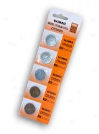 1 Card: 5pcs Wama Cr2025 Lithium Button Cells