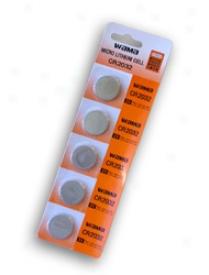1 Card: 5pcs Wama Cr2032 Lithium Button Cells