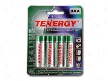 1 Card: 8pcs Tenergy Aa Size Alkaline Batteries