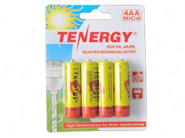 1 Card: Tenergy Aa 1000maah Nicd Rechargeable Batteries For Solar Lights (retail Paack)