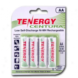 1 Card: Tenergy Centura Nimh Aa 2000mah Low Self Discharge Rechargeable Batteries