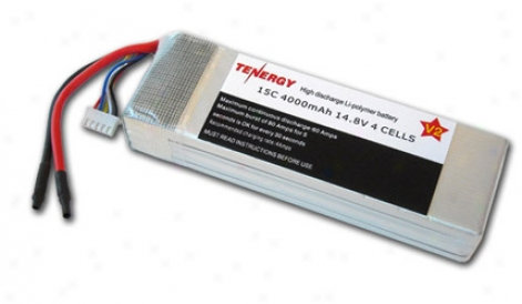 14.8 Volt 4000mah 15c Lipoly Lipo 4 Cell Battery Pack For Rc Cars-- Limited Quantity