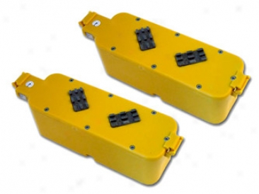2 Pack Tenergy Replacement Batttery With Hard Case (yellow Color) For Roomba Aps 4905 400 Succession Vacuum Cleaner