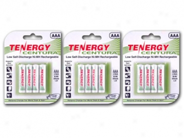 3 Cards: Tenergy Centura Nimh Aaa 800mah Low Self Discharge Rechargeable aBtteries
