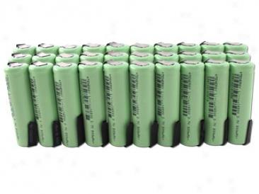 30pcs Tenergy Li-ion 14500 Cylindrical 3.7v 800mah Rechargeable Batteries W/ Tabs