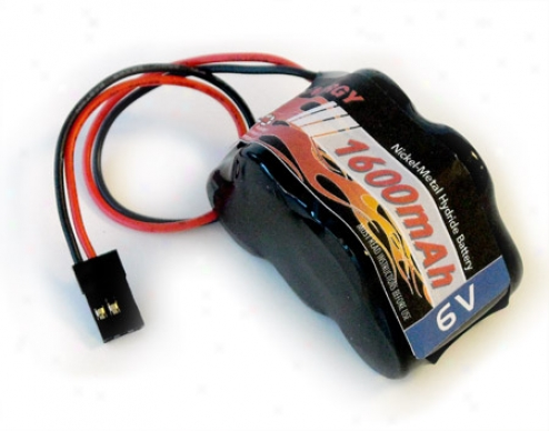 6v Tenergy 1600mah Nimh Side By Side  Double Hump Battery Pack With Hitec oCnnector