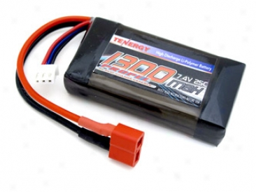 7.4 Volt 1300mah 25c Li-poly Lipo Battery Pack With Deans Connector-- Limited Amount