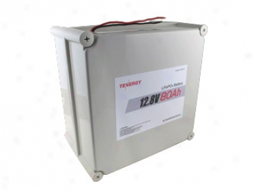 At: Tenergy 12.8v 80ah Lifepo4 Battery Pack With Pcb (Near Pack)