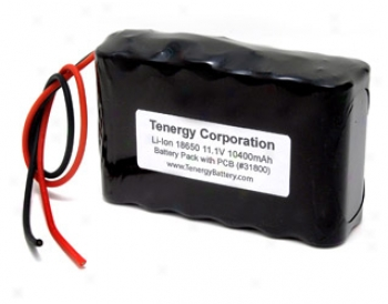 At: Tenergy Li-ion 18650 11.1v 10400mqh Rechargeable Battery Pack W/ Pcb Protection (dgr-a)