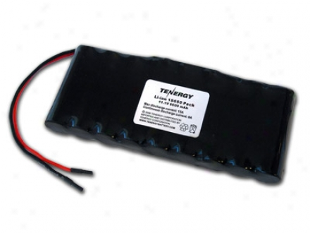 At: Tenergy Li-ion 18650 11.1v 6600mah Pcb Protected Rechargeablee Battery Pwck W/ 18awg Bare Leads