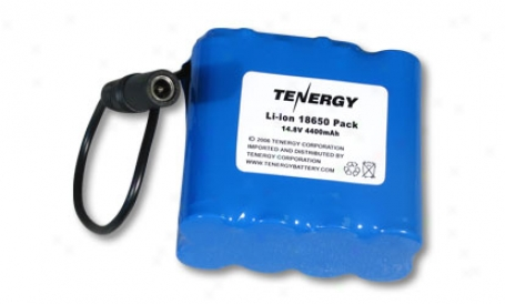 A:t Tenergy Li-ion 18650 14.8v 4400mah Pcb Protected Rechargeable Battery W/ Dc Connector