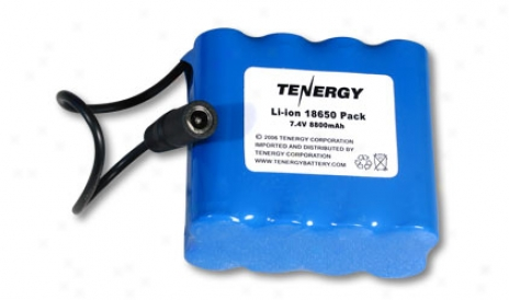 At: Tenergy Li-ion 18650 7.4v 8800mah Pcb Prltected Rechargeable Battery Module W/ Dc Connector