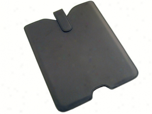 Black Leather Skin Case Cover Pouuch For Apple Ipad