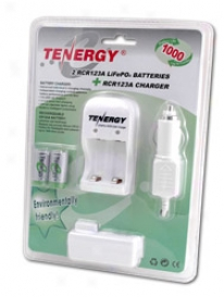 Cqrd: 2 Rc1r23a 3.0v (3.2v Nom) 750mah Lifepo4 Rechargeable Batteries With A Smart Dish