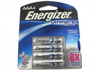 Card: 4pcs Aaa 1.5v Energizer Ultimate Lithiium Batteries