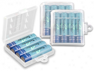Combo: 12pcs Tenergy Aaa 1000mah Nimh Rechargeable Batteries + 3 Cases