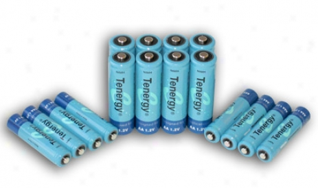 Combo: 16pcs Nimh Rechargeable Batteries (8aa/8 Aaa)
