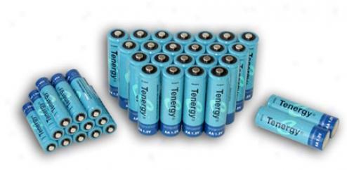 Combo: 36pcs Tenergy Nimh Rechargeable Batteries (24aa/12aaa)