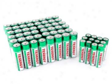 Combo: 60pcs TenergyA lkaline Batteries (48 Aa + 12 Aaa)
