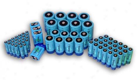 Combo: 68pcs Tenergy Nimh Rechargeable Batteries (24aa/24aaa/8c/8d/4 9v)