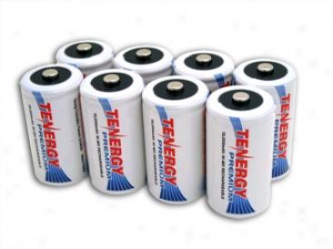 Combo: 8pcs Tenergy Premium D 10000mah Nimh Rechargeable Batteries