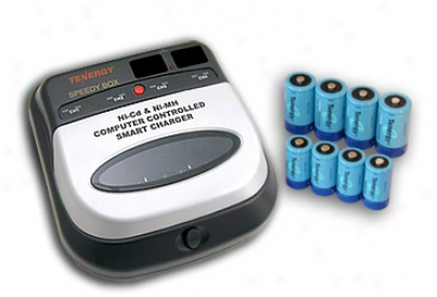 Combo: Bc1hu Universal Smart Charger + 4 C 5000mah & 4 D 10000mah Nimh Rechargeable Batteries