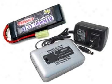 Combo: Tenergy 1-4 Cells Li-po/li-fe Balance Charger  + 11.1v Tenergy 1600mah 20c Lipo Battery Pack