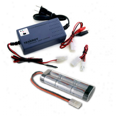 Combo: Tenergy Smart All Charger + 7.2v 5000mah Nimh Battery Pack W/ Tamiya