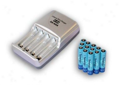 Combo: Tenergy T-3150 Smart Aa/aaa Nimh/nicd Battery Charger + 12 Aaa 1000mah Nimh Rechargeable Batteries