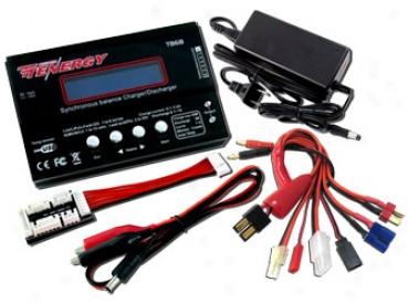 Combo: Tenergy Tb6b Moral  Charger For Nimh/nicd/li-po/li-fe Battery Packs + Power Supply