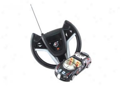 Die-cast Radio Control Metal Racing Car (black / White) (#61086-5)