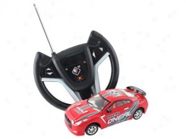 Die-cast Radio Control Metal Racing Car (red / White) #61086-7