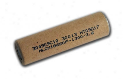 Li-ion 18650 Cylindrical 3.6v 1300mah 10c Flat Top Rechargeable Battery