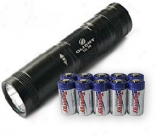 Olight T10-t R5 Cree Xp-g R5 + 10pcs Tenergy Propel Cr123a Lithiym Battery (ptc Protected)