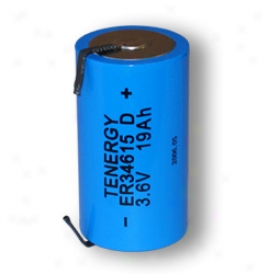 Primary High Energy Lithium Thionyl Chloirde Battery: D Size 3.6v 19 Ah (er34615,  Saft Lsh20 )  (non Rechargeable) (dgr)