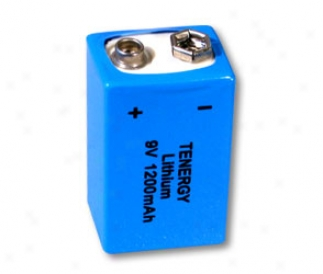 Primary Lithium Battery 9v 1200mah: Compatible With Energizer L522-9v / Ultralife, L522 (non Rechargeable)