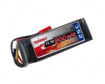 Tenergy 11.1v 900mah 25c Lipo 3 Cell Battery Pack W/ Jst Connector
