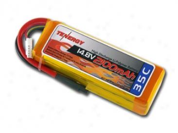 Tenergy 14.8v 2100mah 35c Lipo 4 Cells Battery Pack W/ Deans