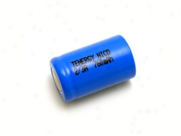 Tenergy 2/3a 760mah Nicd Flat Top Rechargeable Battery