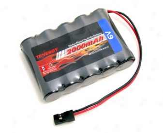 Ten3rgy6 v 2000mah Side-by-side Rx Receiver Nimh Battery Pack W/ Hitec Connector For Rc  Aircrafts / Walking Robot