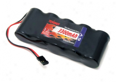 Tenergy 6v 3300mah Side By Side Nimh Battery Receiver Packs W/ Hitech Connector