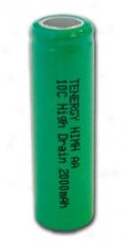 Tenergy Aa  2000mah 10c Nimh Flat Top Rechargeable Battery