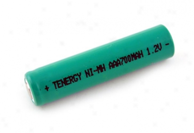 Tenergy Aaa 700mah Nimh Flat Cap Rechargeable Battery