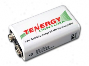 Tenergy Centura Nimh 9v 200mah L0w Self Set off Rechargeable Battery