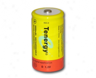 Tenergy D 5000mah Ncd Button Top Rechargeable Battery