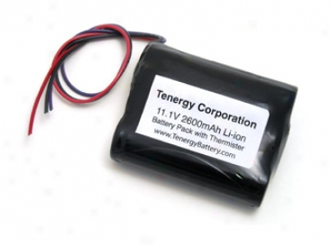 Tenergy Li-ion 18650 11.1v 2600mah Pcb Protected Rechargeable Battery Pack W/ Thhermistee