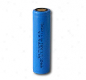 Tenergy Li-ion 1650 Cylindrical 3.7v 2200mah Simpleton Top Rechargeable Battery W/ Pcb